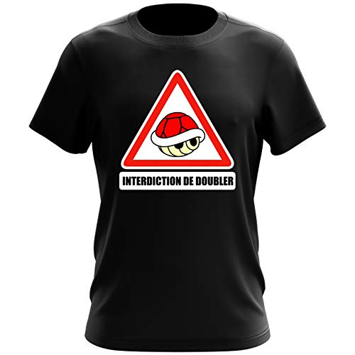 T-shirt homme Interdiction de doubler ! – Parodie Mario Kart